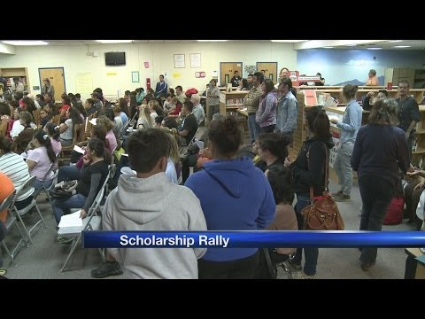 Rally held for lottery scholarship