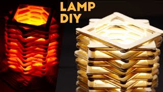 DIY Creative Popsicle Stick Lamp