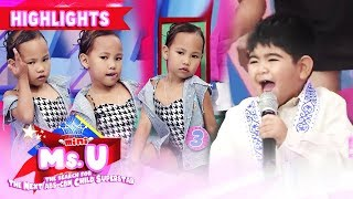 Gambar cover Yorme could not stop singing while Mini Miss U candidate strikes a pose   It's Showtime Mini Miss U