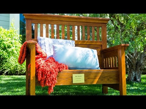 Diy Memorial Bench Made From An Old Bed Youtube