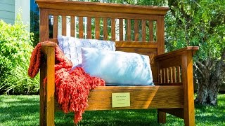 DIY Memorial Bench made from an Old Bed