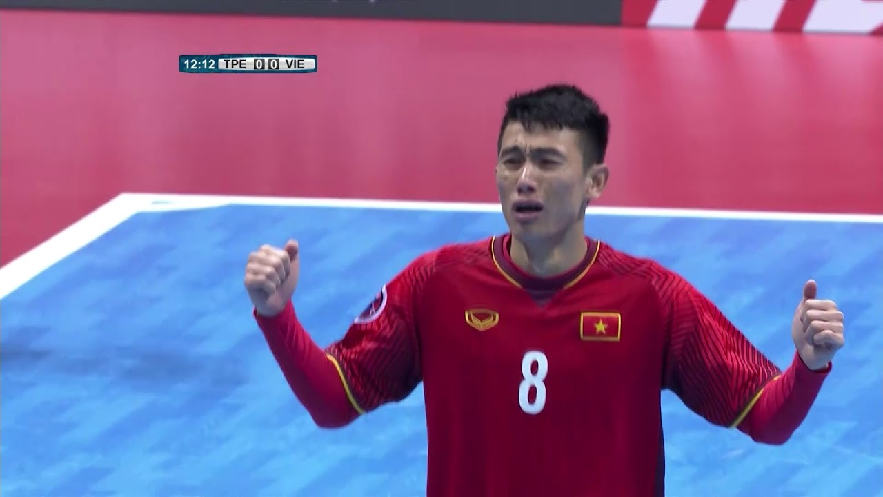 Video: Futsal Đài Loan vs Futsal Việt Nam