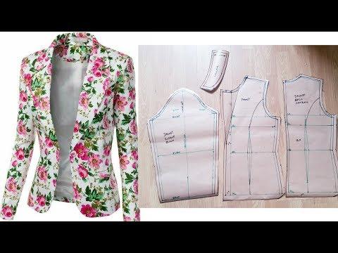 How To Draft Women's Jacket/ Blazer | Notched-Collar Jacket | Pattern Drafting