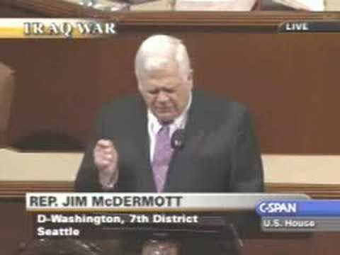 Iraq Troop Surge Debate : Jim McDermott - antiSurge