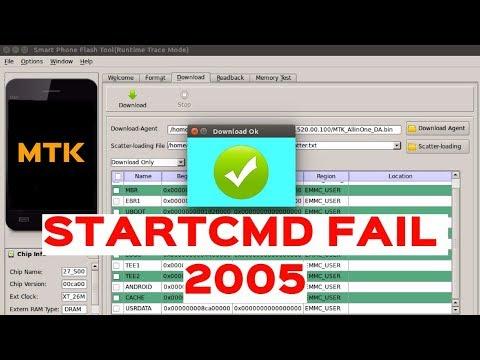 SP Flash Tool - BROM ERROR:S_BROM CMD STARTCMD FAIL 2005