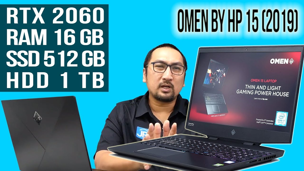 Laptop Gaming Rtx 2060 Core I7 9750h Murah Banget Review Omen By Hp 15 2019 Indonesia Youtube