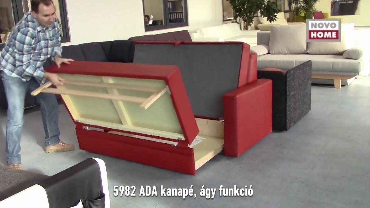 5982 ADA kanapé ágy funkció bemutatása - YouTube