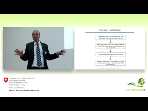 Eco-innovation parks: Presentation of the international survey on eco-innovation parks