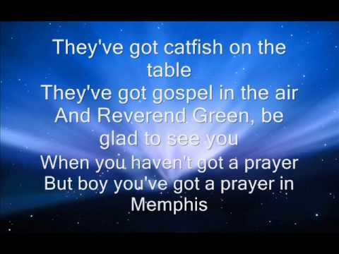 Marc Cohn  walking in memphis with lyrics