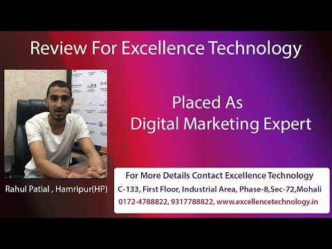 Got Job after Digital Marketing | Excellence Technology | Mohali Chandigarh