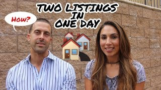 Real Estate Agent Takes 2 Listings In One Day!