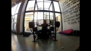 palaistra crossfit active box squats w/bands