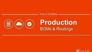 How to Combine Production BOMs and Routings