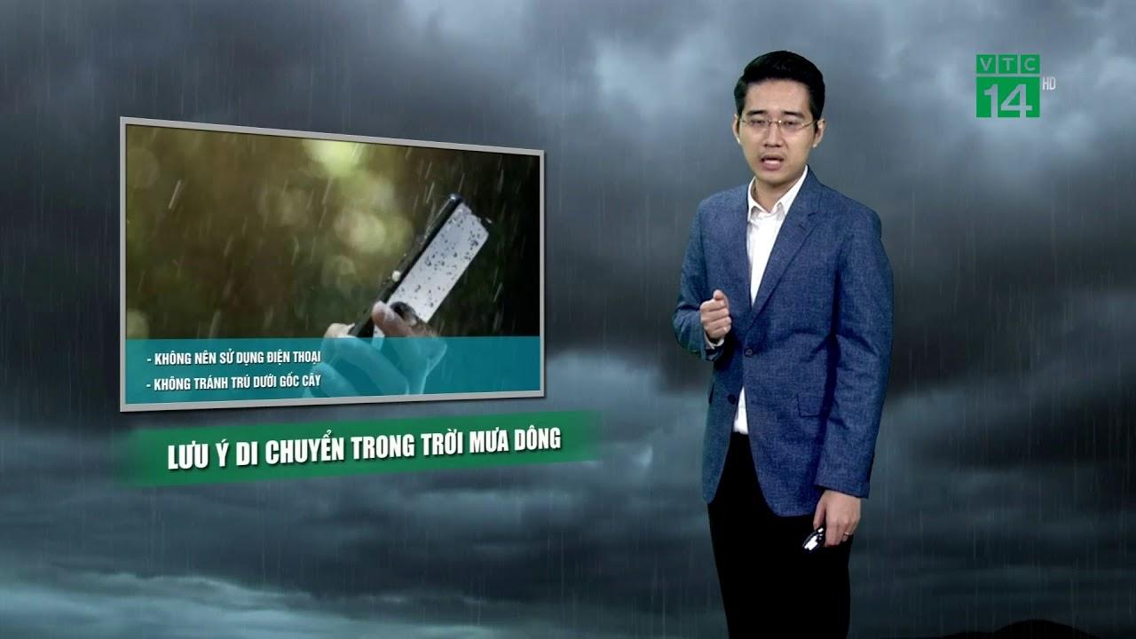 Thời tiết 6h ngày 23/04/2019: Mưa dông vào chiều tối nhiều nơi ở miền Bắc và miền Nam | VTC14