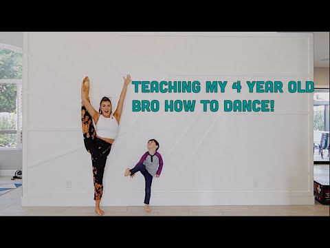 Teaching my 4 year old brother how to dance (FAIL) - Kalani Hilliker