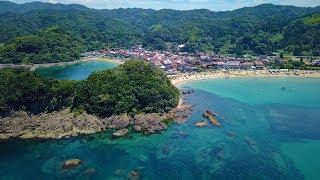 [ 4K UHD ] 絶景空撮:山陰海岸 島根半島の海岸絶景 Shimane Peninsula ( Aerial Drone shot )