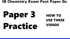 2016 Specimen P3 HL IB Chemistry EXAM Option A&B (in