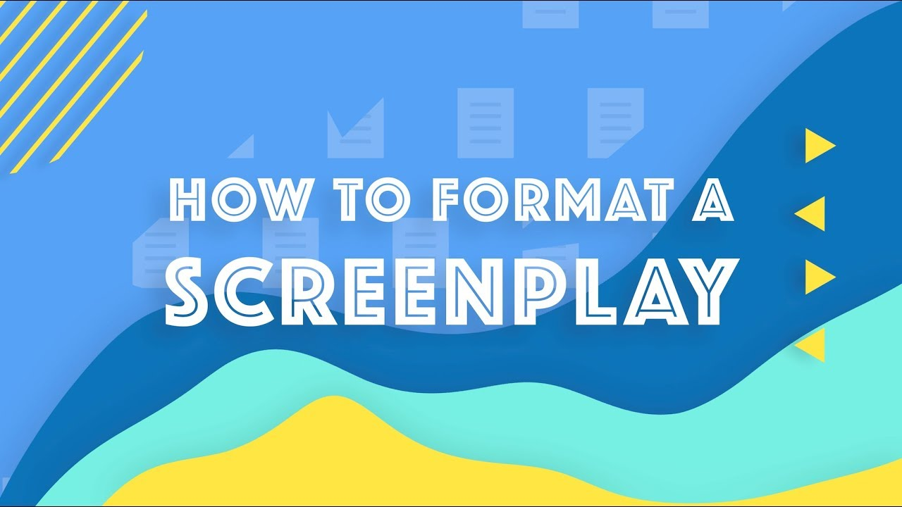 how to format a screenplay screenplay formatting 101 youtube