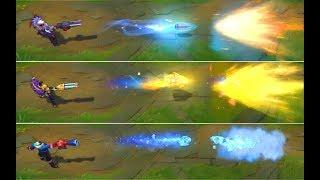 Praetorian Graves vs Victorious Graves VS Snow Day Graves Skin Comparison (League of Legends)