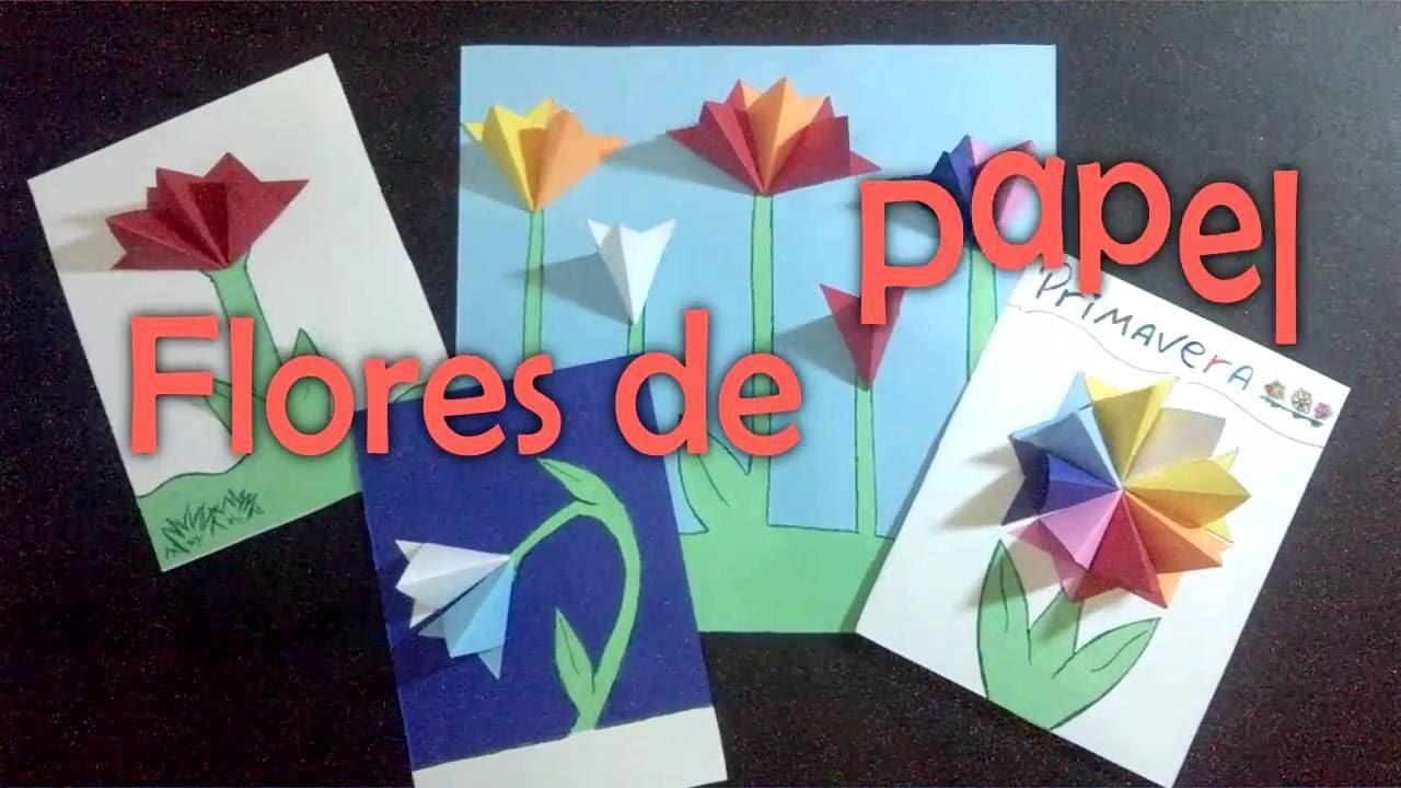 Flores de papel atividade para educa o infantil youtube for Papel para empapelar infantil