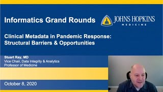 Dr. Stuart Ray \u0026 Clinical Metadata in Pandemic Response Informatics Education Grand Rounds 10/8/20