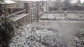 Արցախում տեղաց առաջին ձյունը (Շուշի)