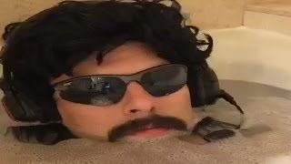 Dr Disrespect Livestreams in the Bathtub!