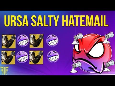 HILARIOUS SALTY HATEMAIL! URSA GOT EM FURIOSA DESTINY 2 FORSAKEN