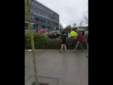 Criminals from Antifa atack in Telford .Britain First 25.02.2017