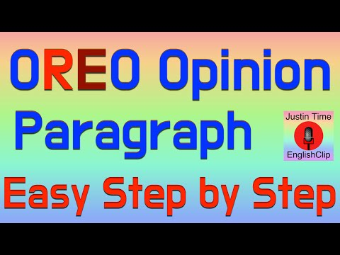 Write An Opinion Paragraph - Easy Writing Steps -  Example Teach EFL ESL Color Code