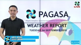 Public Weather Forecast Issued at 4:00 AM September 4, 2018