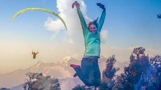 """The Himalayan Paragliding Line """"version longue"""" Bivouac en Inde Loraine Humeau François Ragolski"""
