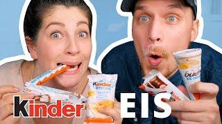TASTE TEST KINDER EIS | Die neuen Eissorten im Vergleich | JackieLina