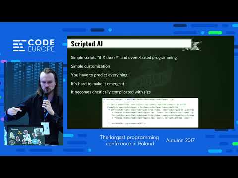 AI in Video games  - lecture by Grzegorz Mazur - Code Europe Autumn 2017