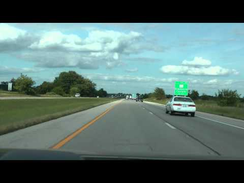 I-70 eastbound in Illinois from St. Louis to Indiana border August 14, 2013 (part 1 of 3)