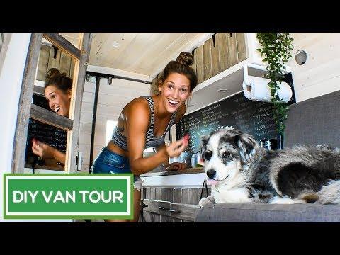 BEAUTIFUL Rustic DIY Sprinter Conversion | Van Life Pinterest Dream | VAN TOUR