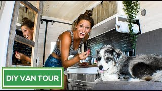 BEAUTIFUL Rustic DIY Sprinter Conversion | Van Life Pinterest Dream | VAN TOUR