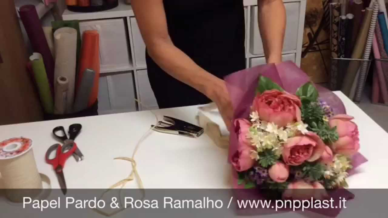Gift wrapping - Wrapping a bouquet #wrapflowers - YouTube