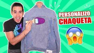 HICE UNA CHAQUETA DE JEANS PERSONALIZADA ! MI MAMÁ PINTA Y ... | Custom Jacket | HaroldArtist
