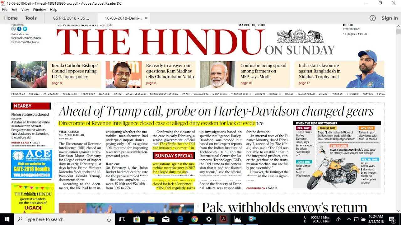 The Hindu uses modern facilities for news gathering, page composition and printing. Started in as a weekly, became a daily in and from then on has been steadily growing to the circulation of 15,58, copies and a readership of about lakhs. The Hindu subscription offers are listed below. Don't miss another issue, subscribe today!