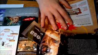 ASMR: Reading a magazine (whispering/gum chewing)