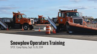 Snowplow operator training