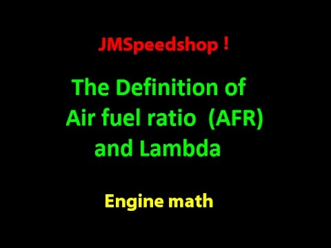 Air Fuel Ratio and Lambda what does it mean ?  2   JMSpeedshop !