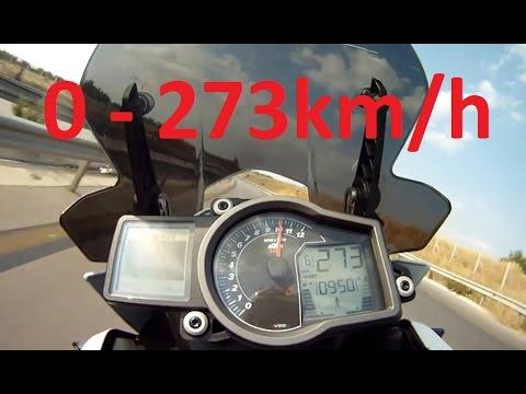 Download KTM 1190 Adventure - Acceleration 0-273km/h & Startup & Exhaust Sound & Burnout & Wheelie