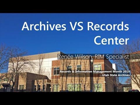 RIMM 2019 - Archives VS Records Center