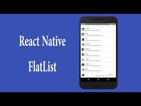 react native flatlist with example | react native tutorial