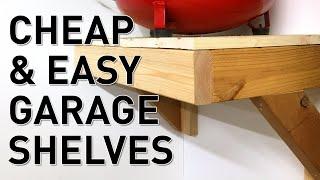 Build Quick Easy Inexpensive Garage Shelves