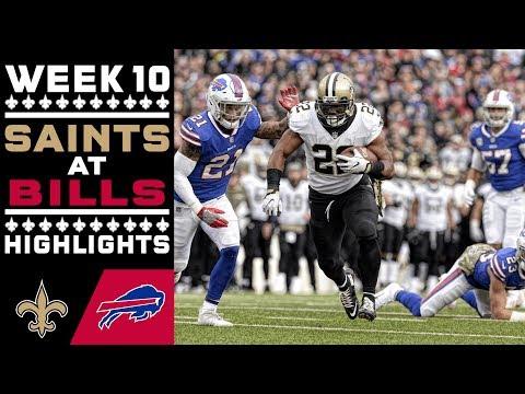 Saints at Bills Highlights ⚜ Week 10