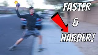 How To Throw A Foam Dodgeball FAST AND HARD!