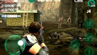 Gameplay RE mercenaries VS - IOS